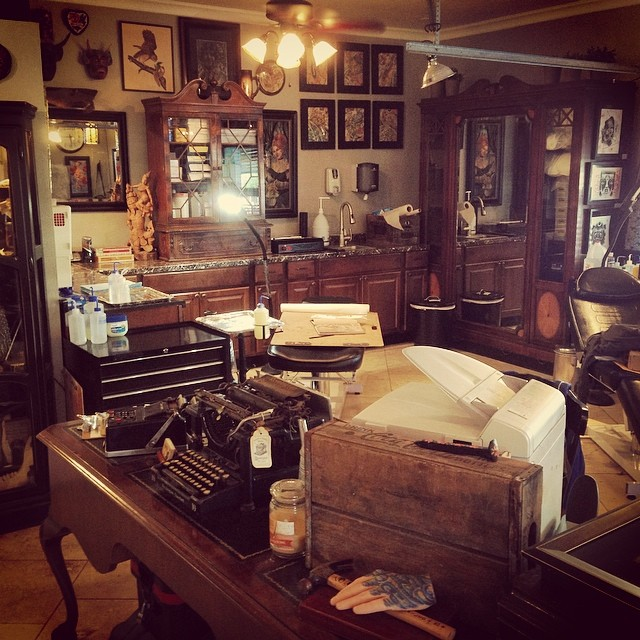 We look like your grandpa's house. #follow #remingtontattoo @remingtontattoo #sandiego #tattoo #tattooartist #northpark
