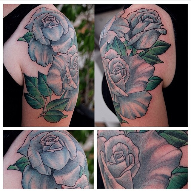 Rose Tattoo by Nathaniel Gann