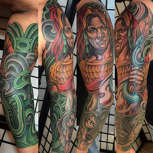 Custom Tattoo Sleeve: Day 3
