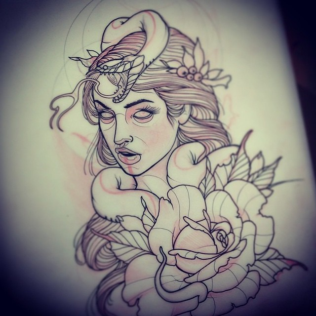 Come by and get this tattooed by @gust_razotattoos at Remington Tattoo #neotrad #neotraditional #newtraditional