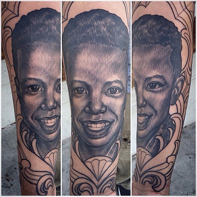 portrait in progress by Terry Ribera @terryribera #portraittattoo #blackandgreyportrait #blackandgreytattoo #blackandgrey #terryribera