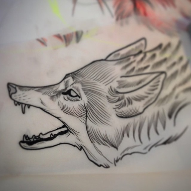 For an upcoming piece by @gust_razotattoos #wolftattoo #remingtontattoo