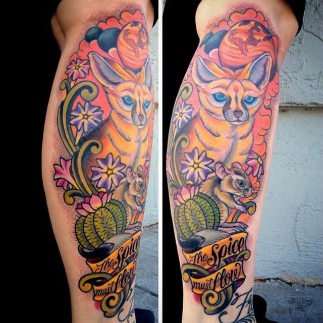Check out the latest tattoo by @theblacktroll here at remington tattoo! #tattoo #tattoos #remington #remingtontottoo #shannonnordin #shannonnordintattoos #fox #foxtattoo #northpark #30thst #sandiegotattoo #sandiegoartist #sandiego