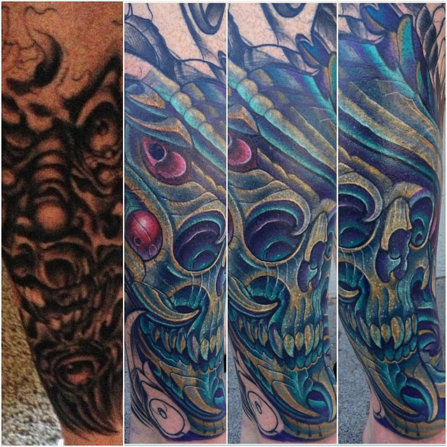 Coverup Tattoo by Terry Ribera
