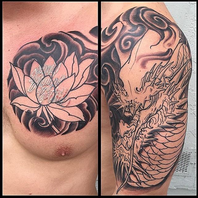Japanese Tattoo Coverup by Gustavo Razo