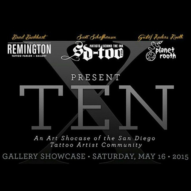 TOMORROW NIGHT! Make sure to stop by planet tooth and check out this amazing art show that our own @bradburkhart curated...all of the remington artists will have some work up along with many others from all over san diego so don't miss it!