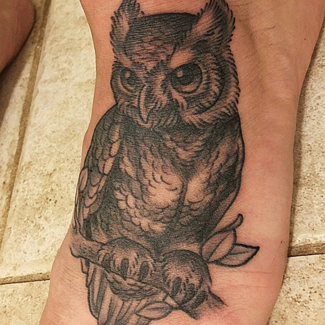 Little Owl Tattoo by Nathaniel Gann