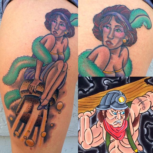 Flapper Girl Tattoo - Shannon Nordin