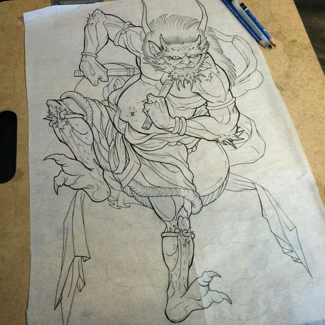 SUpcoming Tattoo Sketch by Gustavo Razo