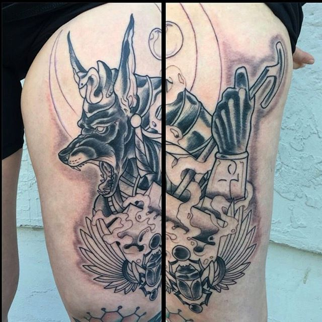 Work in progress on this Anubis piece by @gust_razotattoos...stop by remington today to book your next tattoo appointment #art #tattoo #tattoos #remington #remingtontattoo #gustrazotattos #anubis # scarab #egyptian #pharaoh #ahnk #sandiegoartist #sandiego #northpark #30thst #sandiegotattoo #sandiegotattooartist #sandiegoartist #sandiego