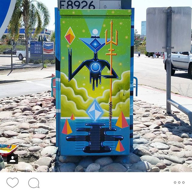 @jorgegutierrez226 just wrapped up this electric box. Helping make the city come more beautiful and causing car crashes at the same time. #keepyoureyesontheroad