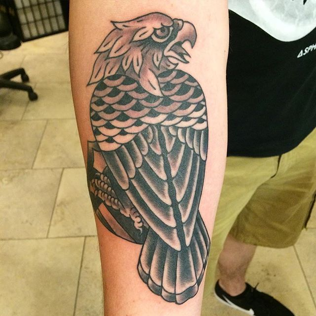 Eagle by @theblacktroll #shannonnordin #sandiego #sandiegotattooshop #eagle #eagletattoo #remingtontattoo