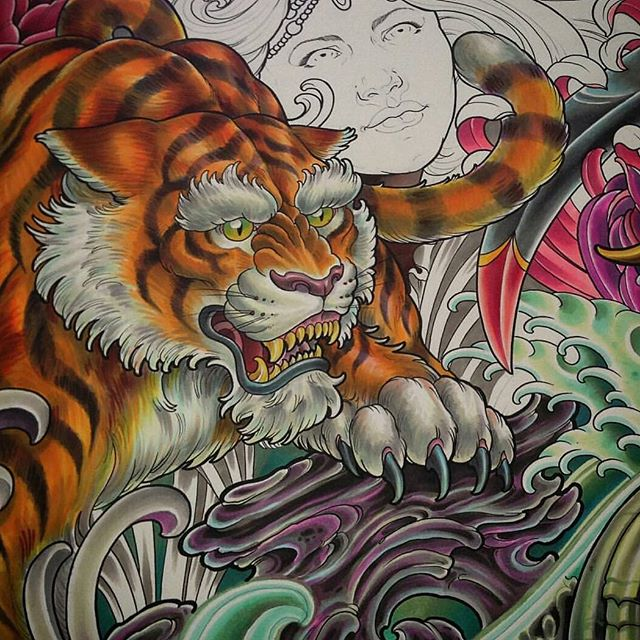 Unfinished Copic drawing by @terryribera #art #wip #drawing #copics #remington #remingtontattoo #terryribera #northpark #30thst #sandiegoartist #sandiego