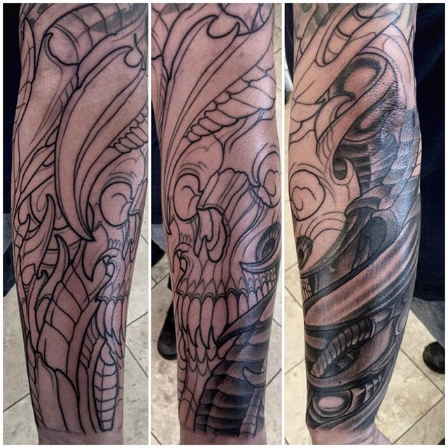 #terryribera @terryribera @remingtontattoo #remingtontattoo #sandiego #sandiegotattooartist #northparktattooartist #sandiegotattooshop #biomechanical