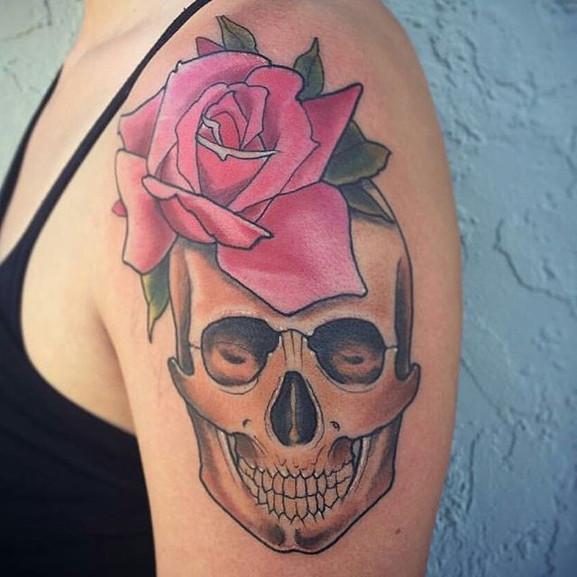 Tattoo by @gust_razotattoos #art #tattoo #tattoos #tattooart #remington #remingtontattoo #skultattoo #rose #gustrazo #gustrazotattoos #northpark #30thst #sandiegotattoo #sandiegotattooshop #sandiegotattooartist #sandiegoartist #sandiego