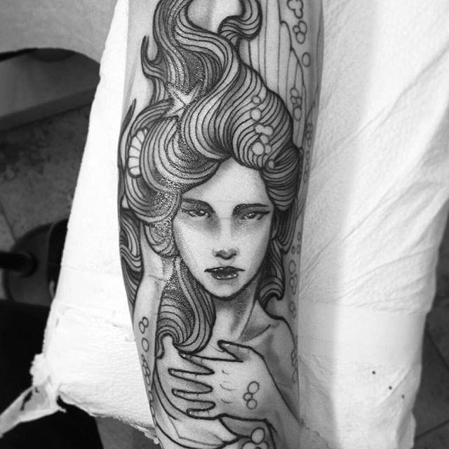 #mermaid tattoo by @gust_razotattoos #art #tattoo #tattoos #tattooart #remington #remingtontattoo #gustrazo #gustrazotattoos #northpark #30thst #sandiegotattoo #sandiegotattooshop #sandiegotattooartist #sandiegoartist #sandiego