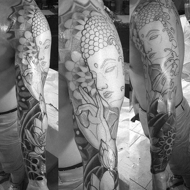 Work in progress by @gust_razotattoos #art #tattoo #tattoos #tattooart #remington #remingtontattoo #gustrazo #gustrazotattoos #northpark #30thst #sandiegotattoo #sandiegotattooshop #sandiegotattooartist #sandiegoartist #sandiego