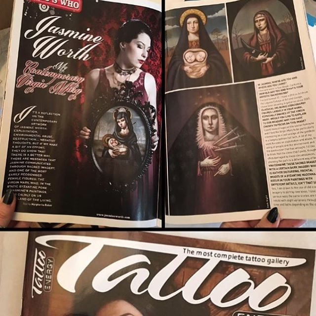 Check out the 4 page article on Jasmine Worth @jasmineworth in Tattoo Energy Magazine @tattoolifemagazine issue no.98 #tattooenergy #tattoolife #tattooenergymagazine #tattoolifemagazine #darkart #popsurrealism