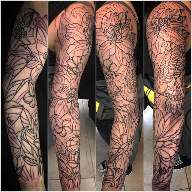 #terryribera @terryribera #outline #3hours #remingtontattoo