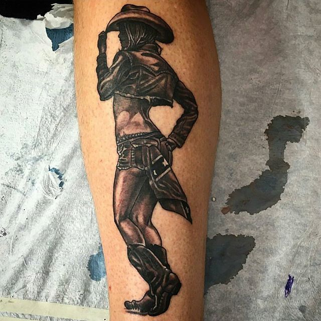 Pin up tattoo by @chriscockadoodledo #tattoo #tattoos #tattooart #remington #remingtontattoo #chriscockrill #pinuptattoo #chriscockrilltattoo #northpark #30thst #sandiegotattoo #sandiegotattooshop #sandiegotattooartist #sandiegoartist #sandiego