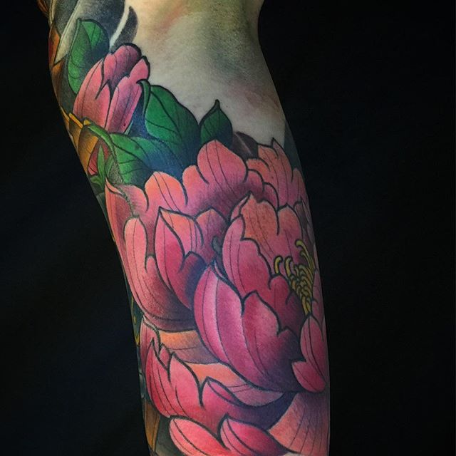 #terryribera @terryribera @remingtontattoo @stigma_rotary #peony #sandiegotattooartist #sandiegotattooshops #remingtontattoo
