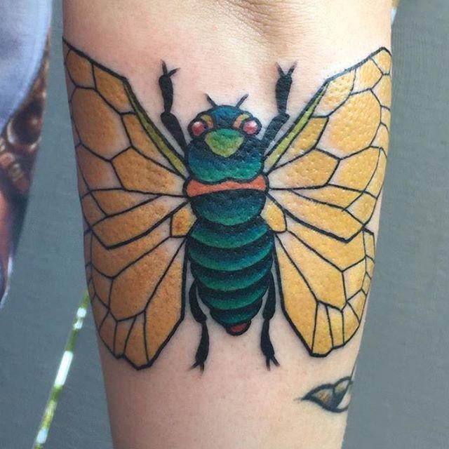Cicada by @theblacktroll #remingtontattoo #shannonnordin #shannonnordintattoos #sandiegotattooartist #sandiegotattoo #northparksd