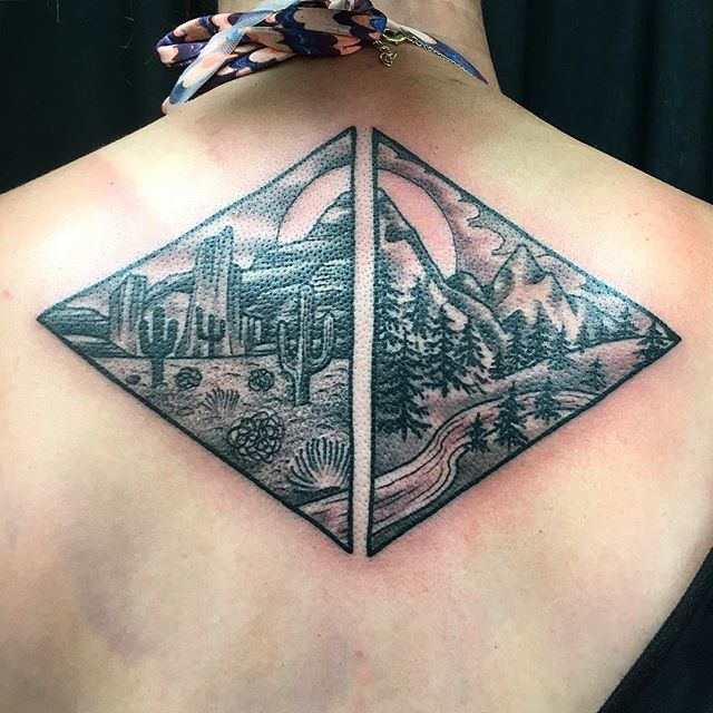 Geometric Nature Tattoo by Shannon Nordin