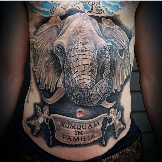 Healed elephant by @bradburkhart #tattoo #tattoos #elephanttattoo #remingtontattoo #northpark #sandiego #sandiego #sandiegotattooartist #sandiegotattooshop