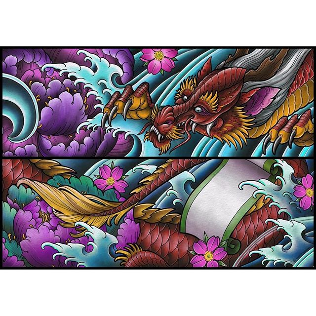 Vehicle wrap @terryribera @terryriberapaint did for the #sandiego #trolly and #ucsdmedicalcenter there should be two trolley trains driving around the city with this dragon. Super stoked to get to do this project. We'll try to get photos of the actual train later.