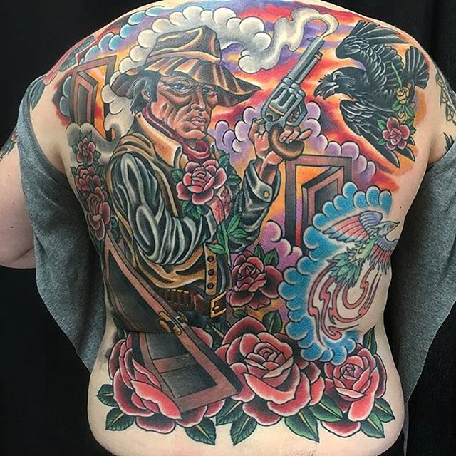 Dark Tower back piece by @theblacktroll #darktower #darktowertattoo #stephenking #sandiegotattooartist #sandiegotattoo #remingtontattoo